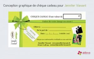 Chèque cadeau Relooking / Conseil en image Jennifer Viavant