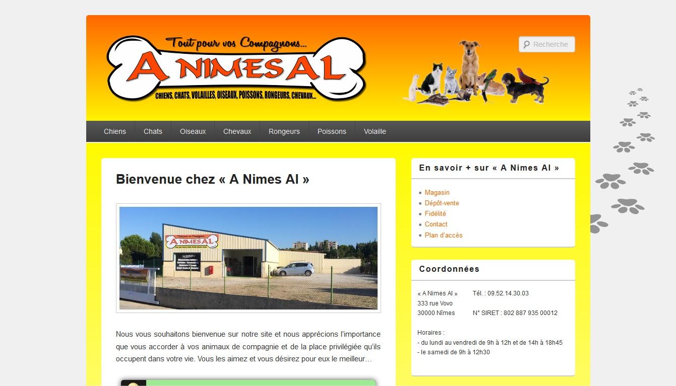 Site Web du magasin A Nîmes Al