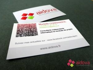 Cartes de visite Aidova
