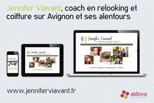 Site web de Jennifer Viavant, coach en relooking et coiffeuse à domicile