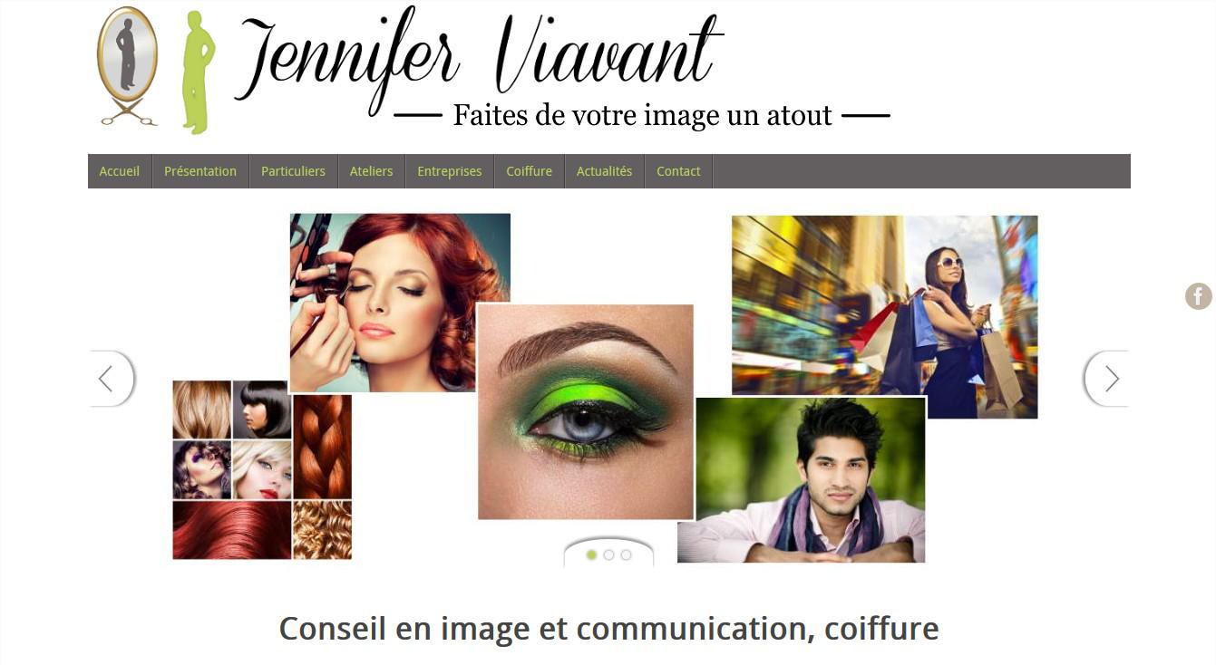 Site Web de la conseillère en image Jennifer Viavant