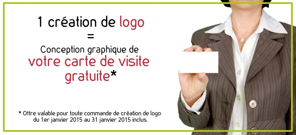 Une création de logo = Conception graphique de votre carte de visite gratuite