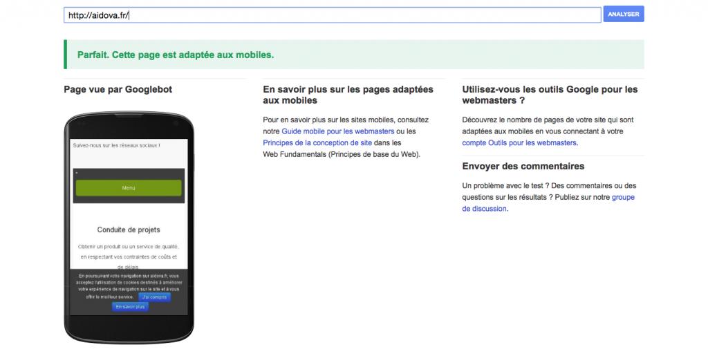 Un site Web adapté aux mobiles est signe de qualité