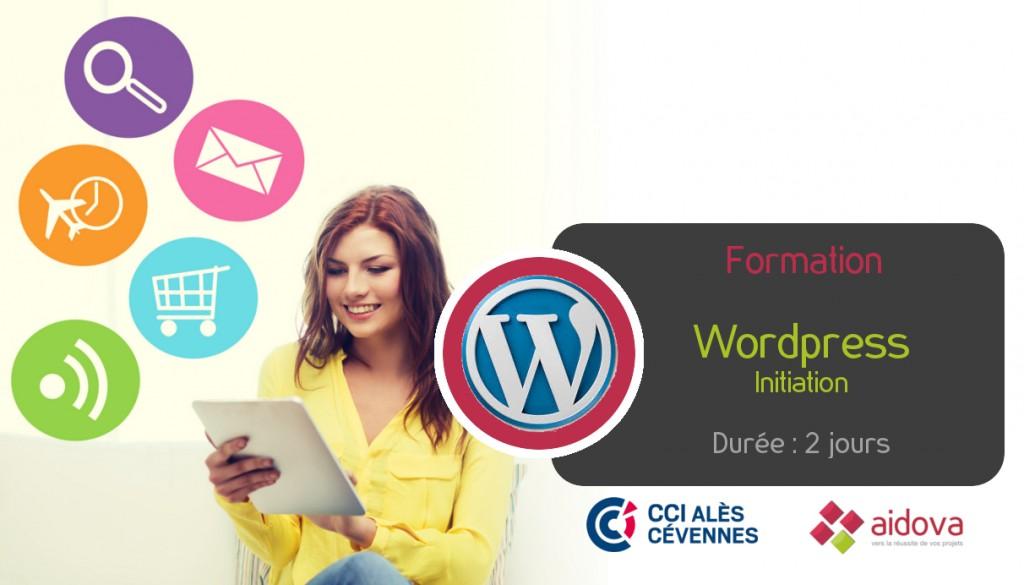 Formation WordPress - initiation - organisée par la CCI d'Alès et Aidova