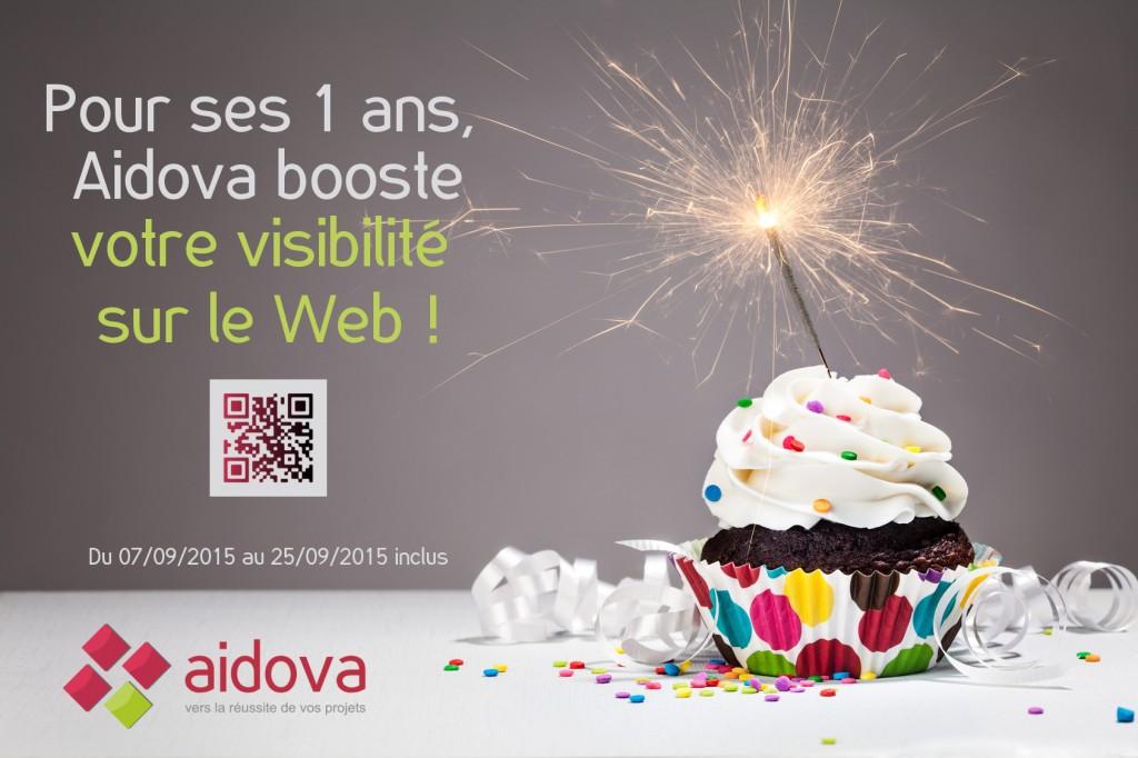 Pour ses 1 ans, Aidova booste votre visibilité sur le Web !