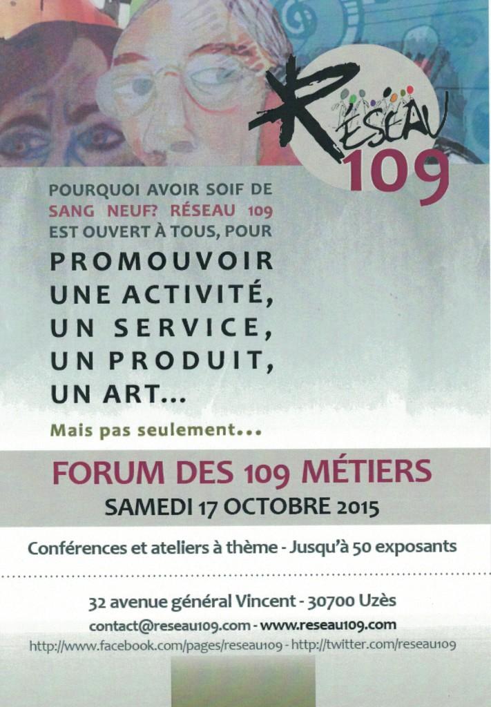 Le forum des 109 métiers 2015