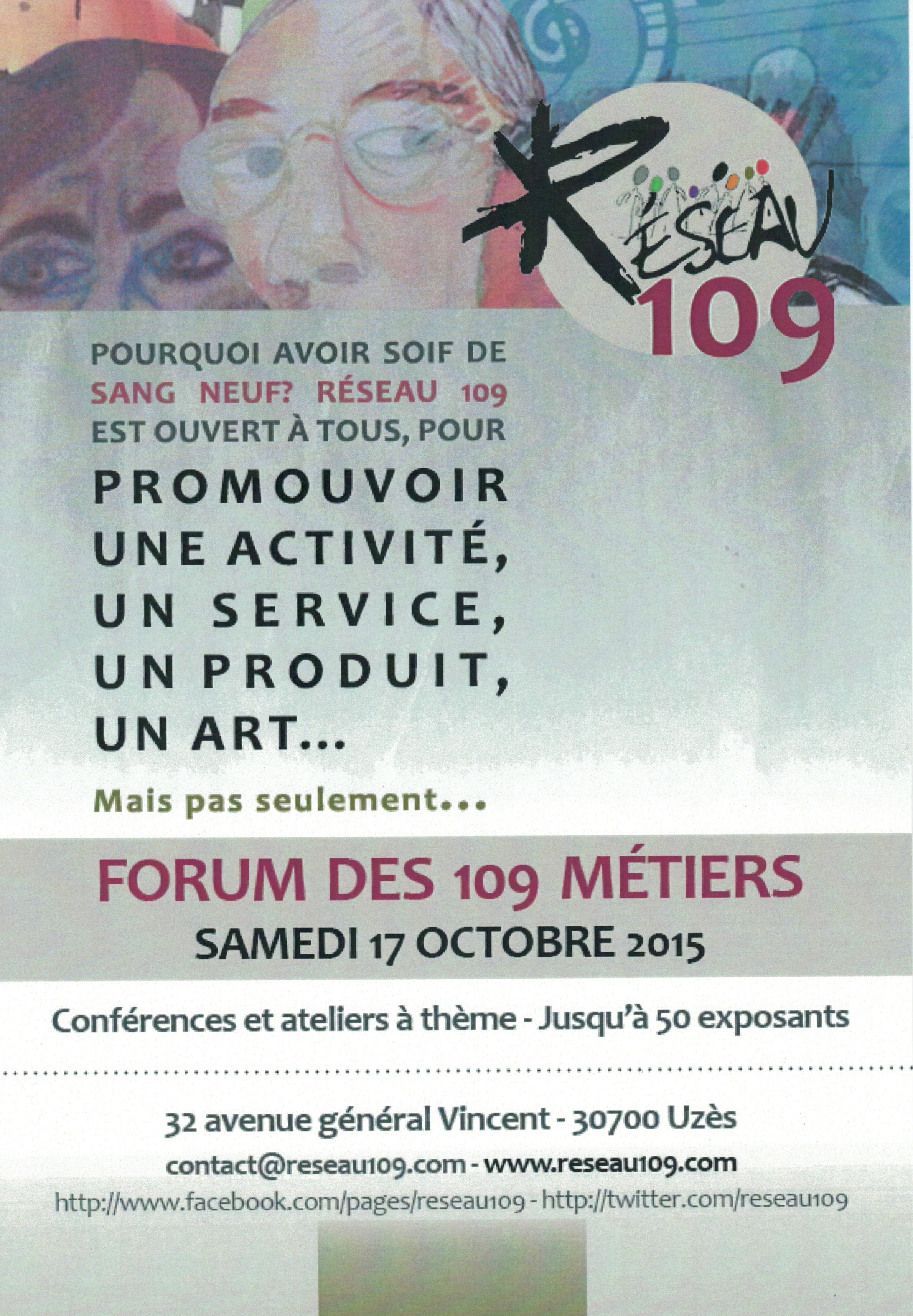 Découvrez le forum des 109 métiers à Uzès !