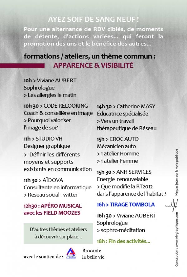 Ateliers Apparence & Visibilité au forum des 109 métiers 2015