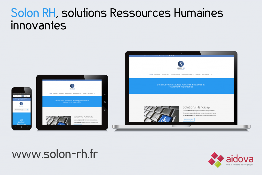Site Web vitrine Solon RH, solutions Ressources Humaines innovantes