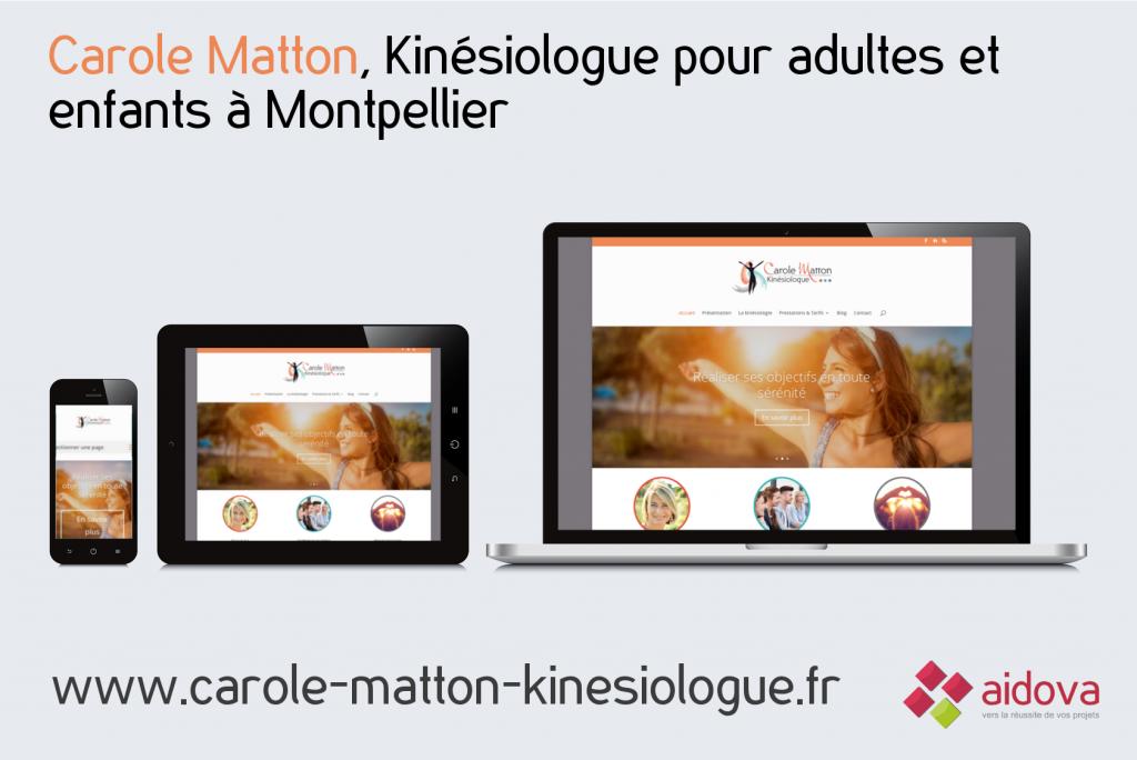 Aperçu du site Web vitrine de Carole Matton Kinésiologue, réalisé par Aidova