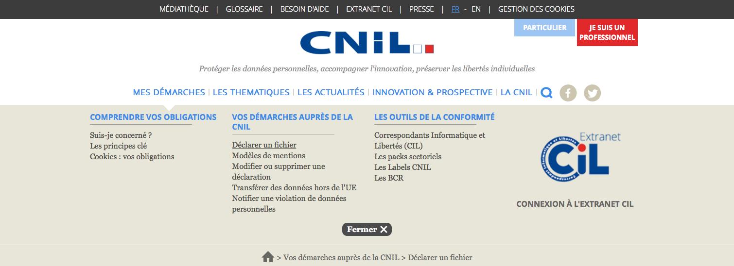 Déclaration CNIL : une nouvelle interface responsive