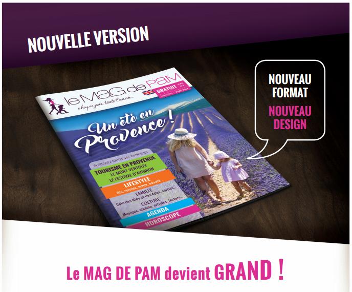 Le Mag de Pam devient grand : nouveau format, nouveau design, nouvelle équipe de rédaction ! Sortie prévue en juin 2016