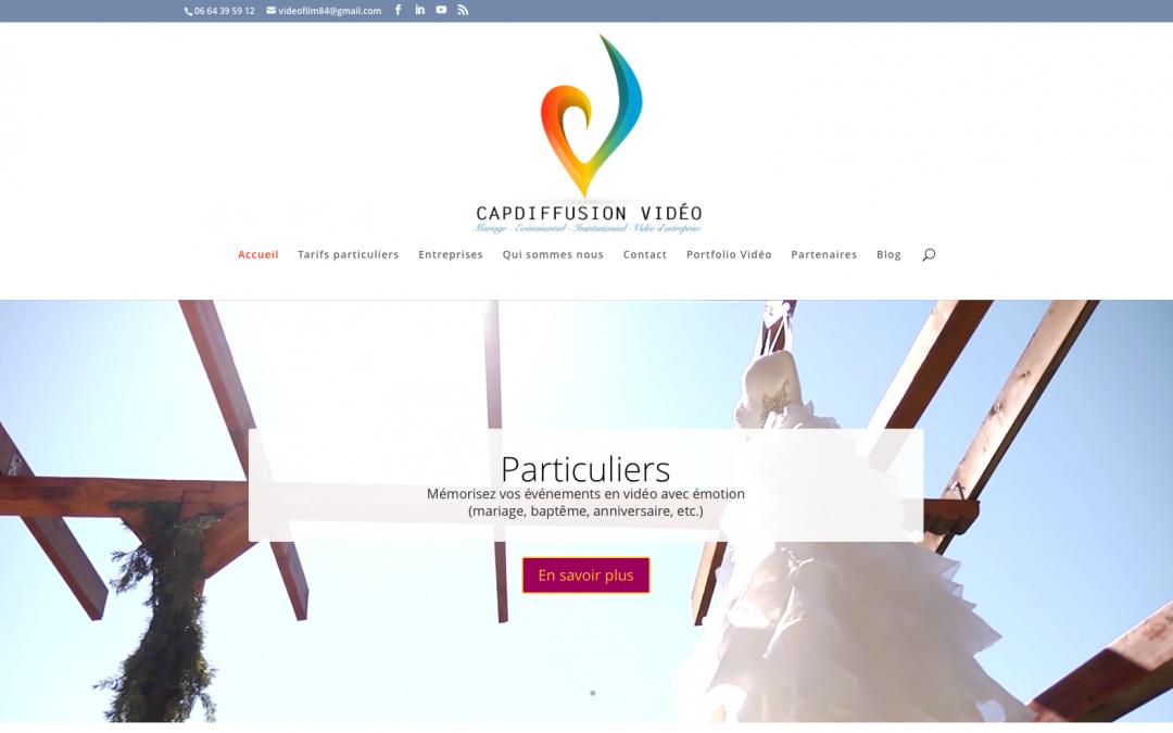 Site internet de CapDiffusion Vidéo, vidéaste professionnel en Vaucluse